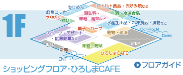 1F retail floor, Hiroshima CAFE