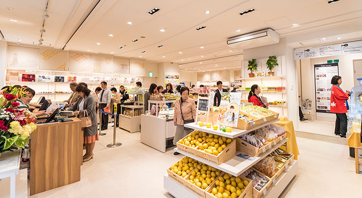 1F retail floor, Hiro Island CAFE